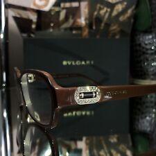 a2bbea9c5ec5 Bvlgari Eyeglasses Swarovski Crystal 4071-B Brown Gold Frames SOLD OUT!