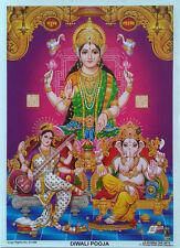 "Lakshmi Saraswati Ganesha Diwali Pooja - Normal Paper POSTER (Size: 5""x6.5"")"