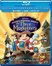 Disney's The Three Musketeers (Blu-ray/DVD, 2014, 2-Disc Set)