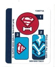 LEGO DC Super Hero Girls LASHINA TANK ~ Replacement STICKER SHEET Set 41233  NEW