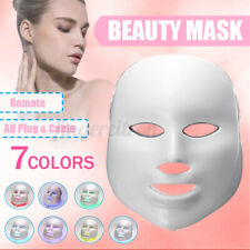 7 Color LED Light Photon Face Mask Neck Rejuvenation Skin Facial Wrinkle Therapy