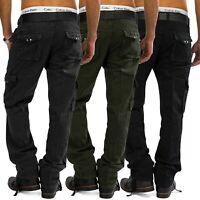 Hommes Cargo Jeans Loose Fit Pantalon cargo Pantalon de travail (100% coton)