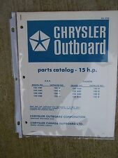 1978 Chrysler 15 HP Outboard Motor Parts Catalog MORE BOAT ITEMS IN STORE  V