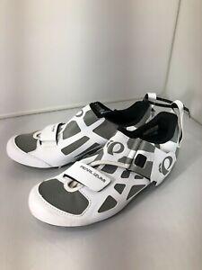 PEARL iZUMi Women's Tri Fly V Carbon Shoes White/Black Size EU 40 US 8