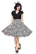 Abbigliamento anni 50 donna new gonna vita alta ampia nero bianco pois uy 50093