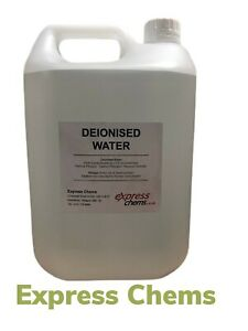 1 x 5 Litre Deionised /Demineralised Water Lab Highest Grade Purity Level <1.3