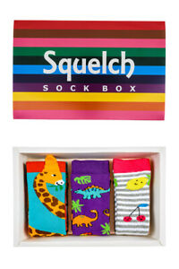 Squelch Childrens Sock Boxes For Welly Boots - Kids Colourful Socks, Wellies