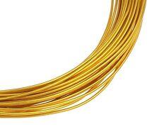 10m ALUMINIUMDRAHT 1,5mm GOLD SCHMUCKDRAHT BASTELN BIEGEDRAHT DIY C95 (2)