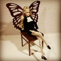 """Butterfly chair for Dolls 1/6 12"""" for Barbie FR2 BJD furniture RARE wooden"""