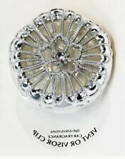 Bath & Body Works Silver Metallic Flower  Scentportable Holder Vent Visor Clip