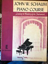 John W. Schaum Piano Course Book E The Violet Book