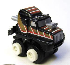 Vintage Micro Machines Stunt Maniacs Kenworth Cab Black, Good Cond, 1991 Galoob