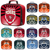 New NFL PICK YOUR TEAMS Adult / Kids Insulated Lunch Box Bag School Bag Cooler