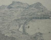 BLEISTIFT ZEICHNUNG Lugano Monte Boglia Bré vor 1910 ca. 21 x 16 cm Karl Ehlers