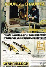 Publicité advertising 1980 Les tronconneuses Mc Culloch