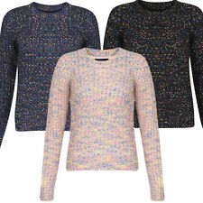 Women's Medium Knit Crew Neck Acrylic Blend Jumpers & Cardigans