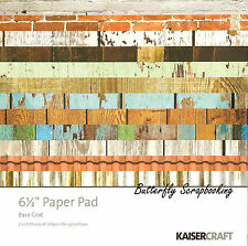 Base Coat Collection KAISERCRAFT 6.5'' x 6.5'' Paper Pad, 2x20 Sheets - PP919