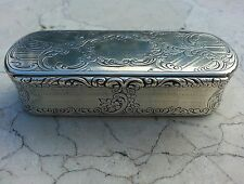 ANTIQUE SILVER SNUFF BOX, NATHANIEL MILLS, CUSTOM COMMISSION