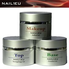 make-up Set: UV Camouflage building gel, Haft-Gel, sealing gel NAIL1EU 3 40ml