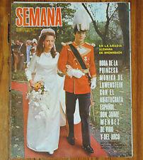 ROYAL WEDDING Princess Monica of Lowenstein & Jaime Mendez Semana cover & inside