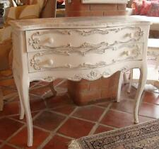 Solid Wood Commode Chest of Drawers - White Shabby Chic / French Country