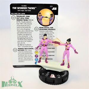 Heroclix Justice League Unlimited set Wonder Twins #071 Chase figure w/card!