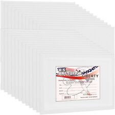 """Los paneles de lona de algodón en blanco 8""""x10"""" 24-Pack fuentes de pintura placas de arte montado"""