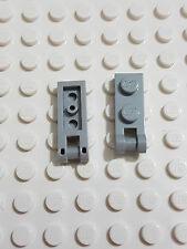 LEGO-X 2 light grey Plates,Modified 1 x 2 with Handle on End, Closed Ends 60478
