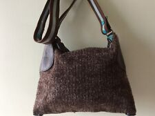 GABS real Italian leather and fabric ladies green and brown underarm shoulderbag