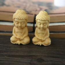 Carving Boxwood Wood Buddhism Sakyamuni Figurine Buddha Statue Pendant