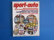 SPORT AUTO n°241 fevrier 1982 : opel Monza 2.5 E - Ford Granada 2.8 I / fiat 127