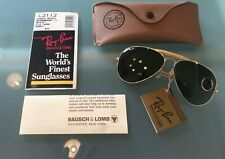 Genuine Vintage Ray Ban Bausch & Lomb USA Outdoorsman II,Arista G-15 62 mm,NOS !