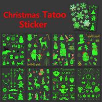 1 Pcs Luminous Temporary Tattoo Stickers Party Decoration Christmas Decor C qt