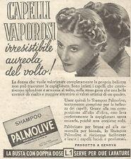Y3007 Shampoo PALMOLIVE - Capelli vaporosi... - Pubblicità del 1939 - Old advert