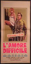 Locandina L'AMORE DIFFICILE 1963 MANFREDI SPAAK GASSMAN MORI SALERNO MOSCHIN