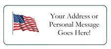 60 Personalized USA Flag Patriotic Return Address Labels