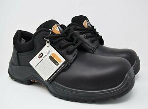 V12 Tiger, Safety Derby Shoe, Black
