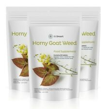 Horny Goat Weed - 60 High Strength Tablets - Male Libido Boost - UK Made GMP