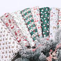 45*55CM Christmas Santa Cotton Fabric Patchwork Handmade Sewing Doll Cloth DIY