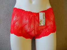 French Knicker, 3 Pack, Hersteller Elinal, Muster auf Tüll, rot, Gr. 34-36