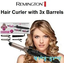 Remington Curl Revolution Stylist Kit 3 Barrels Hair Curling Wand As