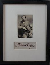 Sir Arthur Conan Doyle Autograph Antique Photo Victorian Sherlock Holmes Author