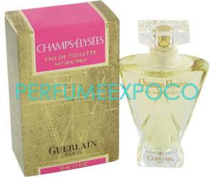 GUERLAIN Champs Elysees PERFUME Woman 1.0oz EDT Spray *VINTAGE 2001 GOLD* (HE36