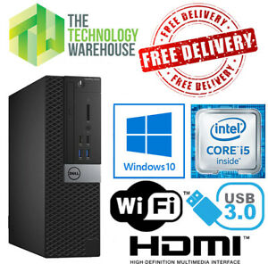 Dell Optiplex 5050 PC Computer i5-7500 CPU Up to 32GB Ram + SSD & Windows 10 Pro
