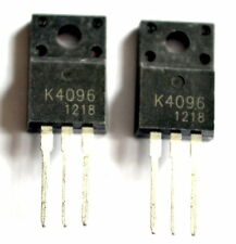 2x pieces, 2SK4096 N Channel Power MOSFET 500V, 9A, TO-220, K4096   - ref:126