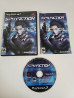 Spy Fiction (Sony PlayStation 2 PS2 2004) Complete w/ Manual - Tested, Works
