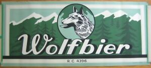 Wolf Beer / 'Wolfbier' 1930s Advertising Poster - Wolf in Mountains