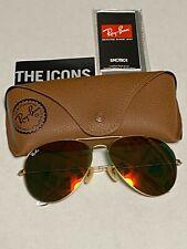 Ray-Ban Aviator Sunglasses RB3026 62mm 112/69 Gold Mirrored orange Flash Lenses