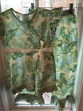 Hannah Kate 2 Piece Outfit Size 7 Green, Blue Ivory Floral