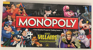 Monopoly Disney Villains Collector's Edition Theme Park Board Game Complete NIB